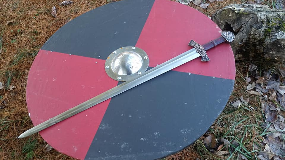 Viking sword and shield